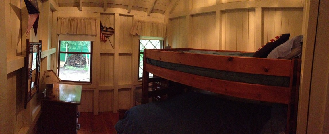 kid's room Adirondack Lake Placid New York vacation                 waterfront lakefront rental property house home camp