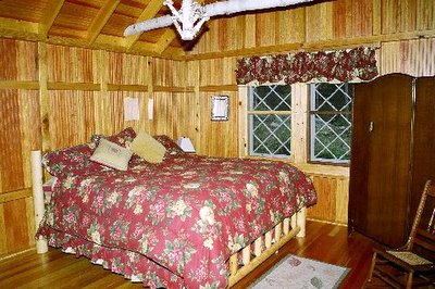 Master Bedroom Adirondack Lake Placid New York                 vacation waterfront lakefront rental property house home                 camp