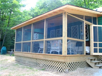 porch Adirondack Lake Placid New York vacation                 waterfront lakefront rental property house home camp