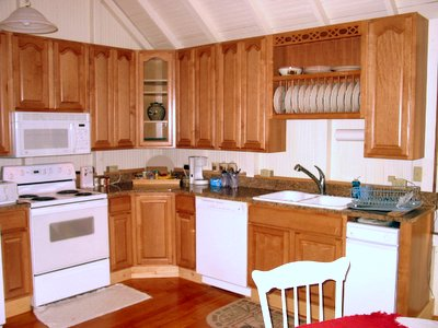 kitchen Adirondack                   Lake Placid New York vacation waterfront lakefront                   rental property house home camp